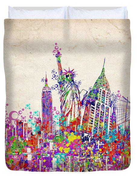 New York City Tribute 2 Duvet Cover