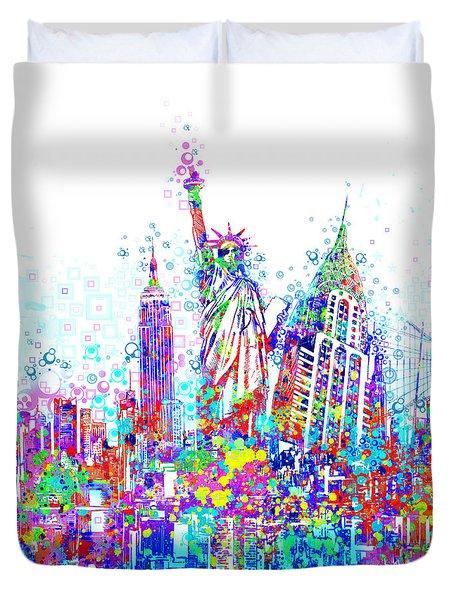 New York City Tribute 3 Duvet Cover