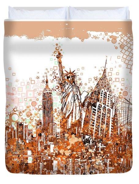 New York City Tribute 4 Duvet Cover