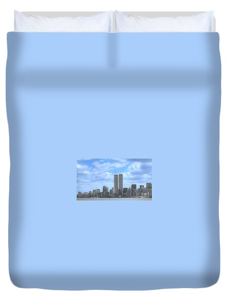 New York City Twin Towers Glory - 9/11 Duvet Cover