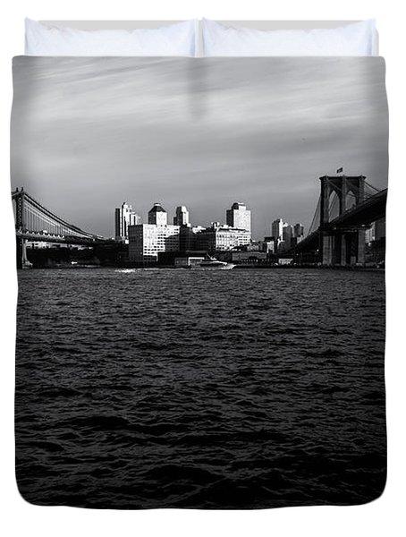 New York City - Two Bridges Duvet Cover by Vivienne Gucwa