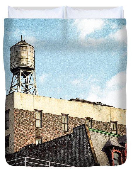 New York City Water Tower 2 Duvet Cover by Gary Heller