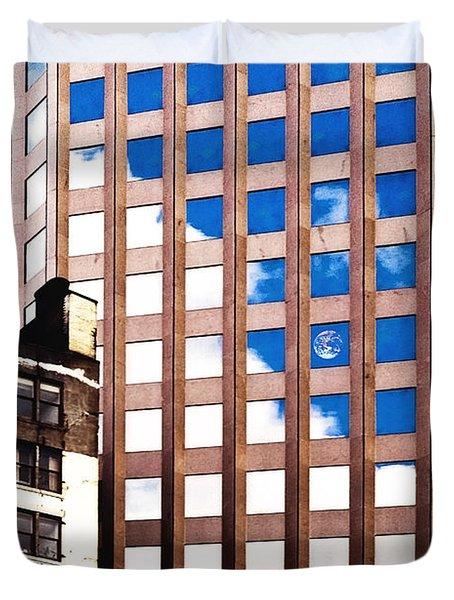 New York City Windows Duvet Cover