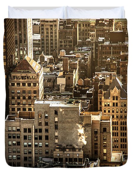 New York Cityscape Duvet Cover by Vivienne Gucwa