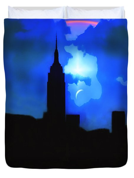New York City Event Duvet Cover by Kellice Swaggerty