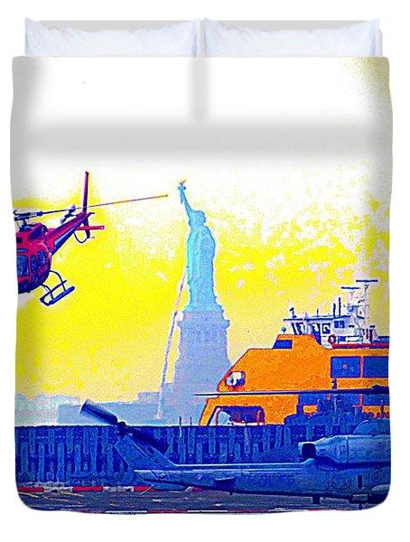 New York Life Duvet Cover by Ed Weidman