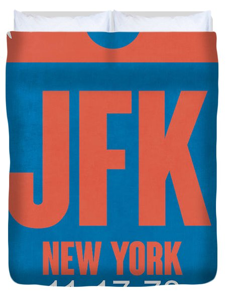 New York Luggage Tag Poster 1 Duvet Cover