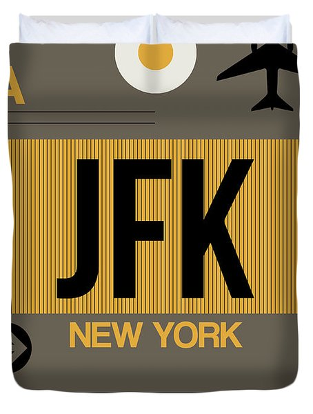 New York Luggage Tag Poster 3 Duvet Cover
