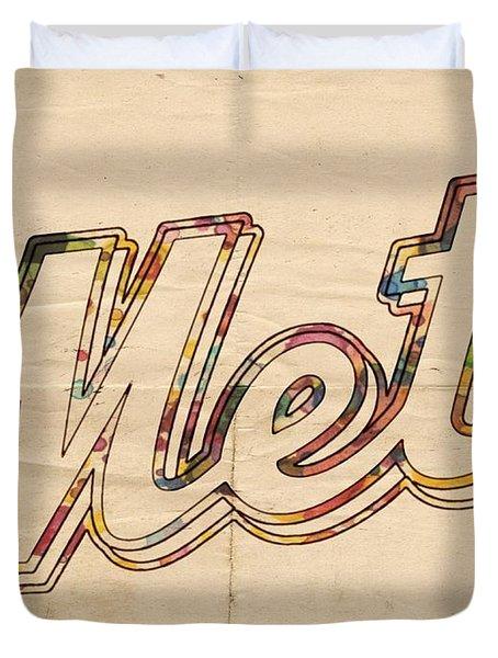 New York Mets Logo Vintage Duvet Cover