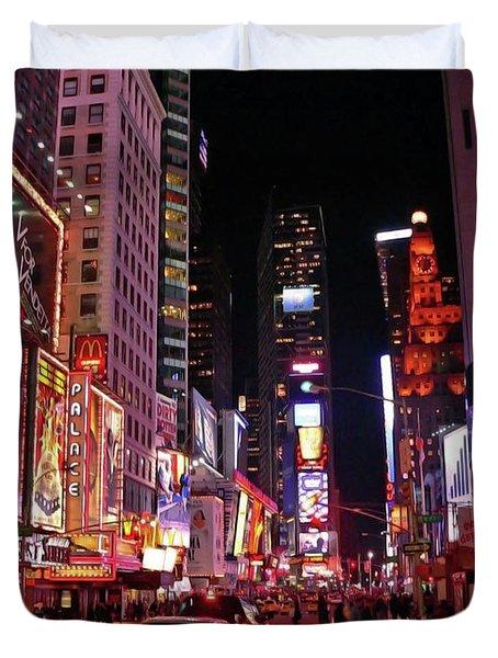 New York New York Duvet Cover by Angela Wright