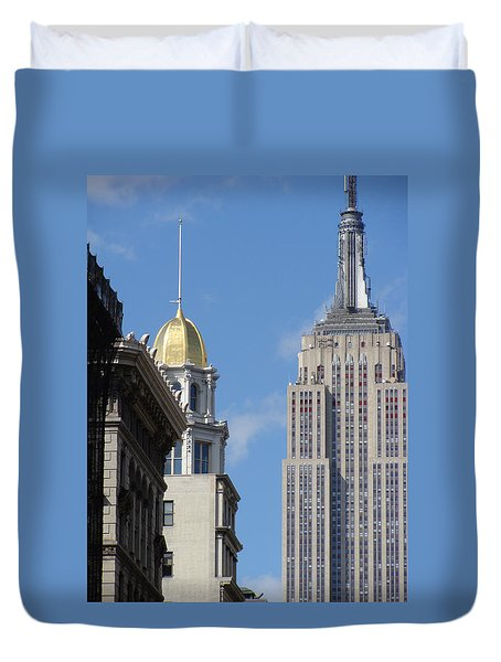 Duvet Cover featuring the photograph New York New York by Ira Shander