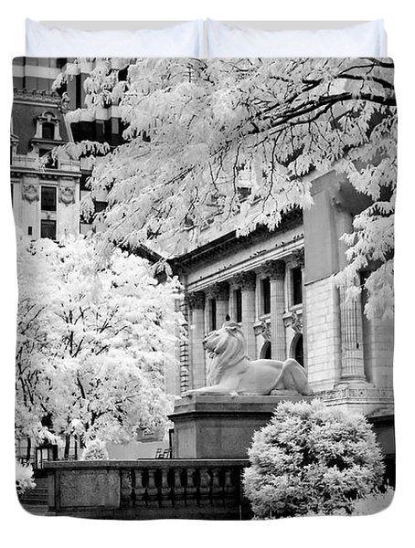New York Public Library Ir Duvet Cover