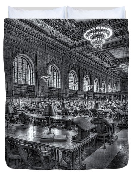 New York Public Library Main Reading Room V Duvet Cover by Clarence Holmes