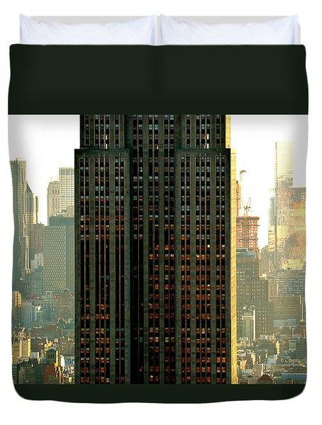 New York Scraper Duvet Cover