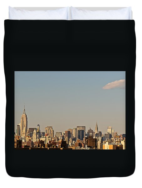 New York Skyline Duvet Cover by Kerri Farley