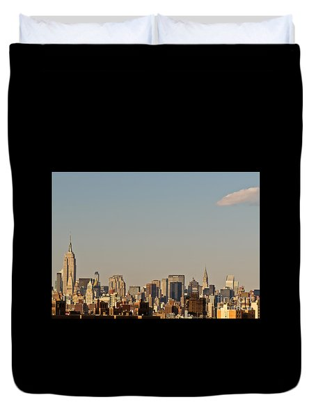 New York City Skyline Duvet Cover by Kerri Farley
