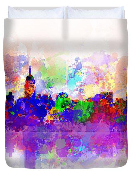 New York Skyline Splats 3 Duvet Cover