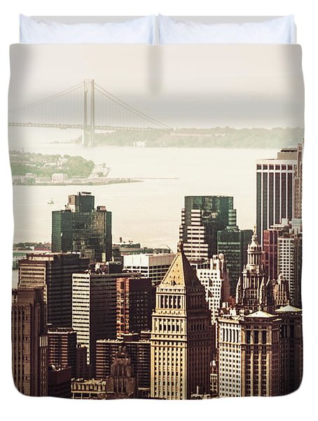 New York Skyline Duvet Cover by Vivienne Gucwa