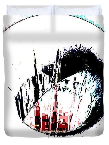 Duvet Cover featuring the photograph New York Skysrapers View Through A Vase by Sir Josef - Social Critic - ART