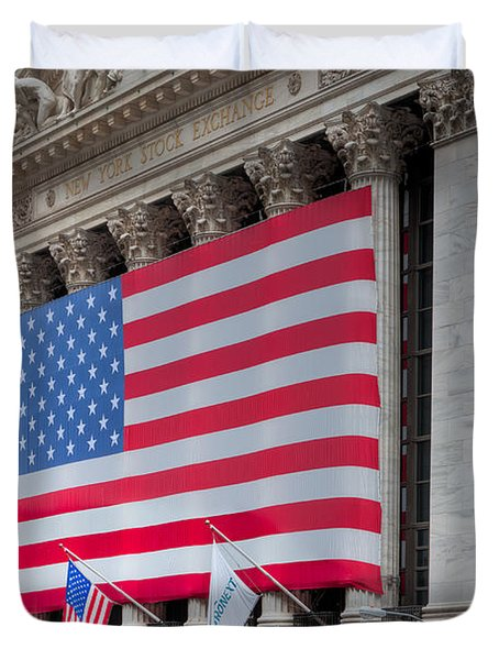New York Stock Exchange IIi Duvet Cover by Clarence Holmes