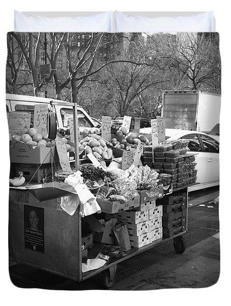 New York Street Photography 5 Duvet Cover by Frank Romeo