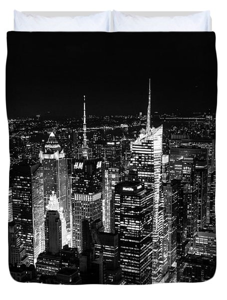 New York Times Square Bw Duvet Cover