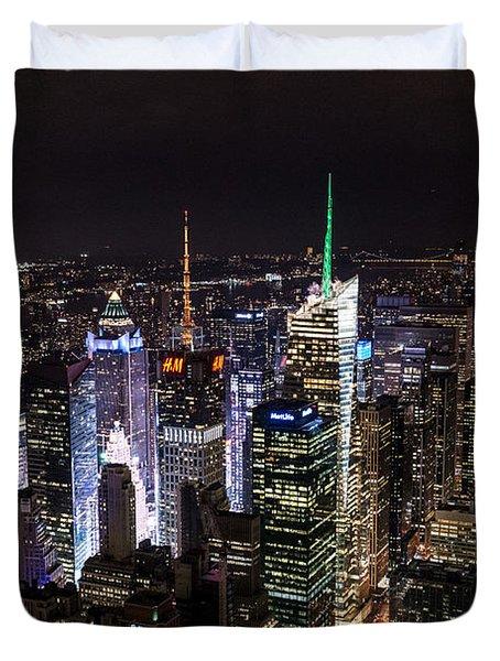New York Times Square Duvet Cover by Matt Malloy
