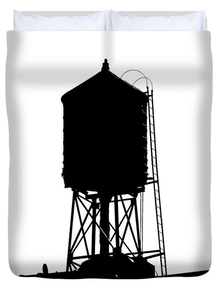 New York Water Tower 17 - Silhouette - Urban Icon Duvet Cover