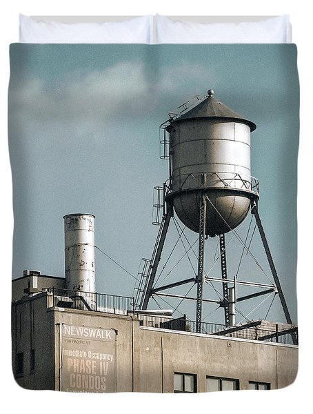 New York Water Towers 10 Duvet Cover