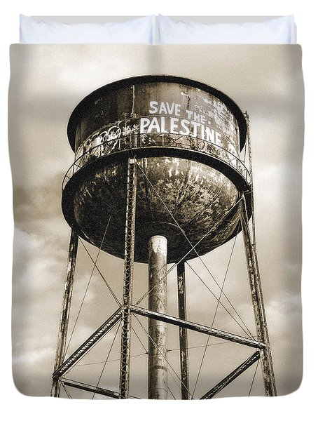 New York Water Towers 11 - Greenpoint Brooklyn Duvet Cover