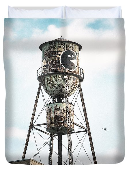 New York Water Towers 9 - Bed Stuy Brooklyn Duvet Cover