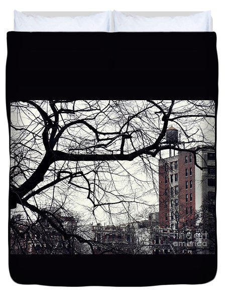 New York Winter Day 2 Duvet Cover by Sarah Loft