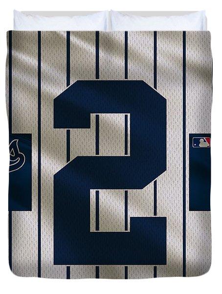 New York Yankees Derek Jeter Duvet Cover