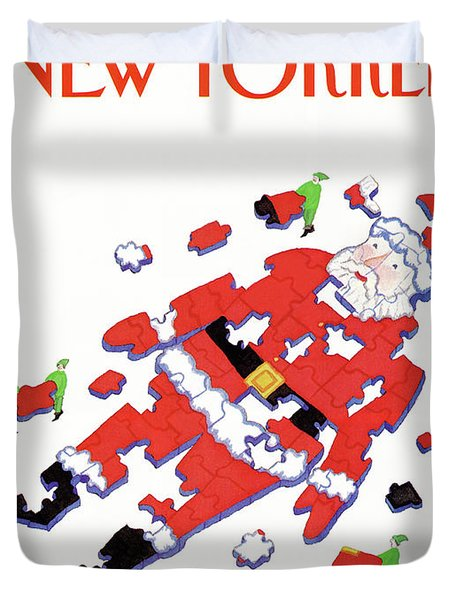 New Yorker December 28th, 1987 Duvet Cover by Lonni Sue Johnson