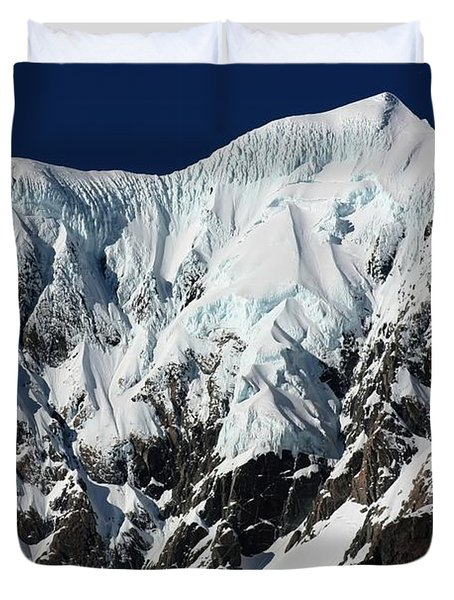 Duvet Cover featuring the photograph New Zealand Mountains by Amanda Stadther