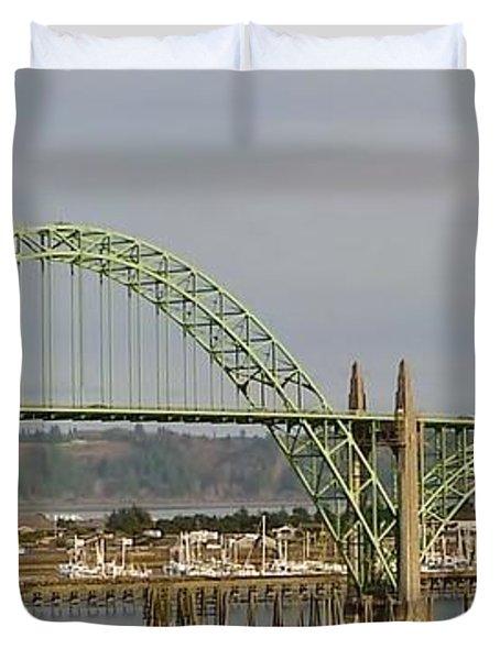 Duvet Cover featuring the photograph Newport Bay Bridge by Susan Garren