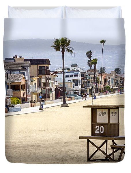 Newport Beach Waterfront Luxury Homes Duvet Cover by Paul Velgos