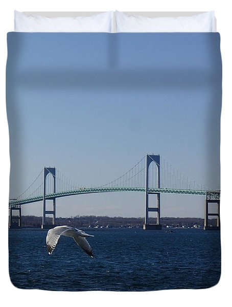 Newport Bridge Duvet Cover