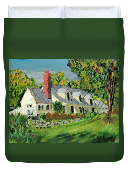Next To The Wooden Duck Inn Duvet Cover