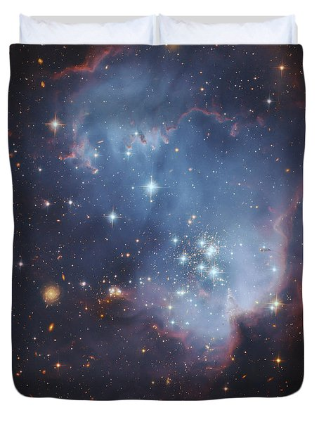 Ngc 602, Starforming Complex Duvet Cover by Robert Gendler