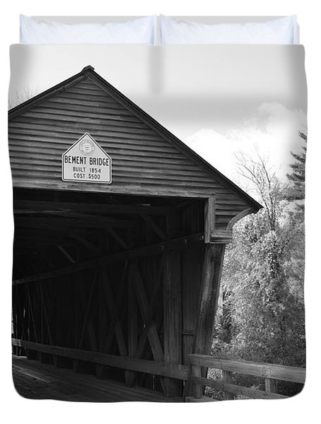 Nh Covered Bridge Duvet Cover