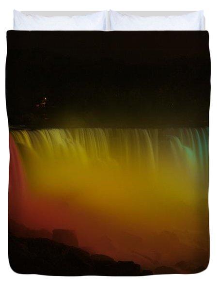 Niagara Falls A Glow Duvet Cover by Dave Files