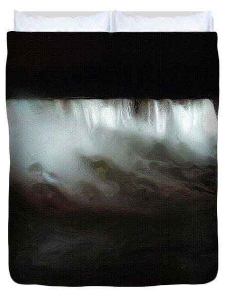 Niagara Falls By Night Duvet Cover by Ayse and Deniz