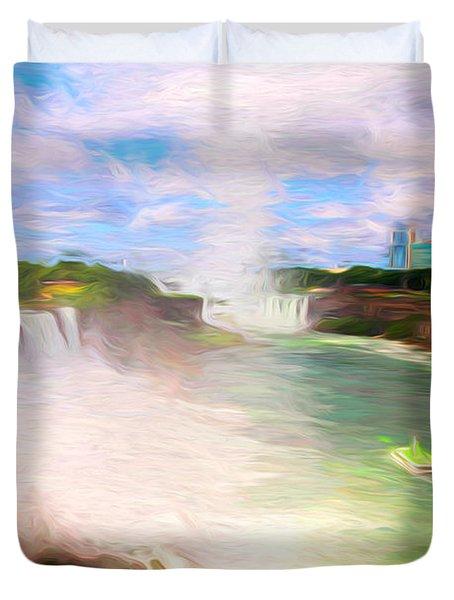 Niagara Falls View 2 Duvet Cover