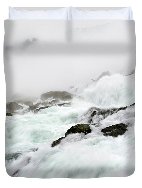 Niagara Falls With Observation Tower Behind Duvet Cover
