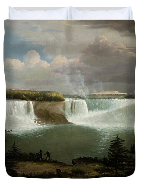 Niagra Falls By Alvan Fisher Duvet Cover