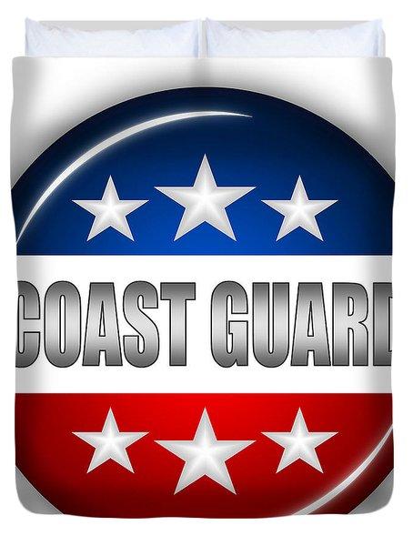 Nice Coast Guard Shield Duvet Cover by Pamela Johnson