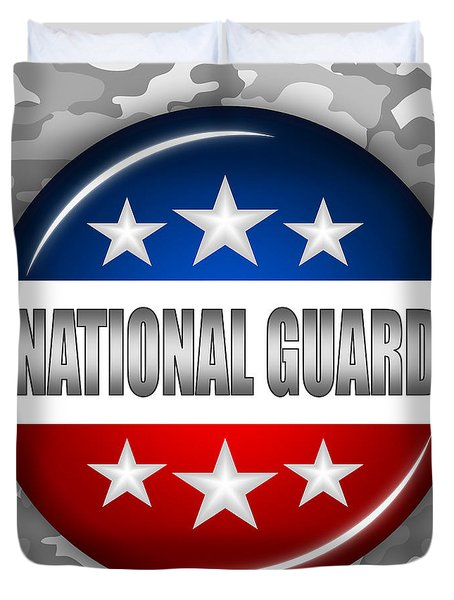 Nice National Guard Shield 2 Duvet Cover by Pamela Johnson
