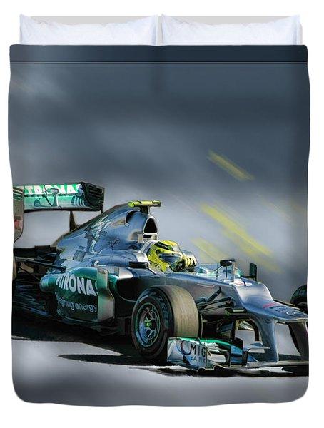 Nico Rosberg Mercedes Benz Duvet Cover