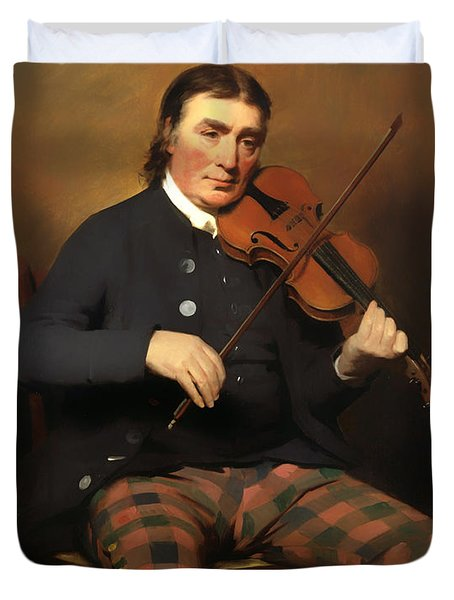 Niel Gow - Violinist And Composer Duvet Cover